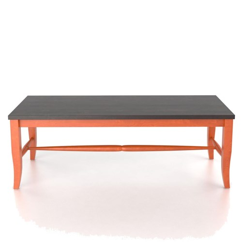 Canadel Custom Dining Customizable 3 Seat Wooden Bench