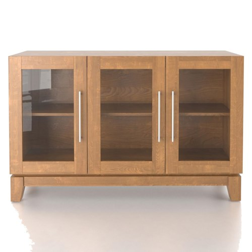 Canadel Custom Dining Customizable Buffet with 3 Tempered Glass Doors