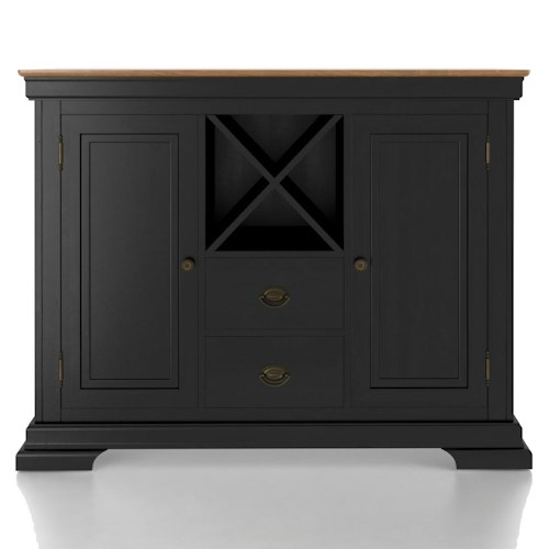 Canadel Custom Dining Customizable Buffet with Wine Storage