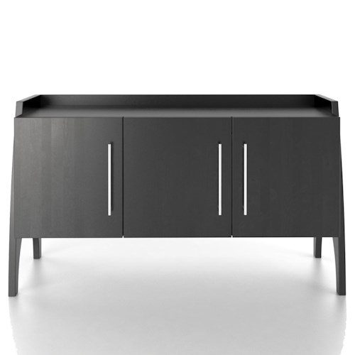 Canadel Custom Dining Contemporary Customizable Buffet with Raised Back Edge