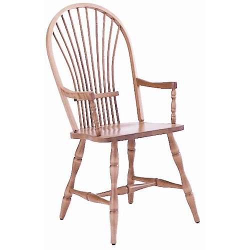 Canadel Custom Dining Customizable Windsor Arm Chair