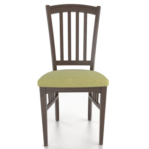 Canadel Custom Dining Customizable Slat Back Upholstered Side Chair