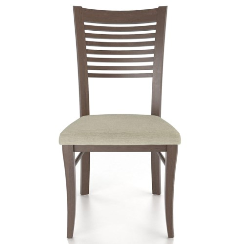 Canadel Custom Dining Customizable Ladderback Upholstered Side Chair
