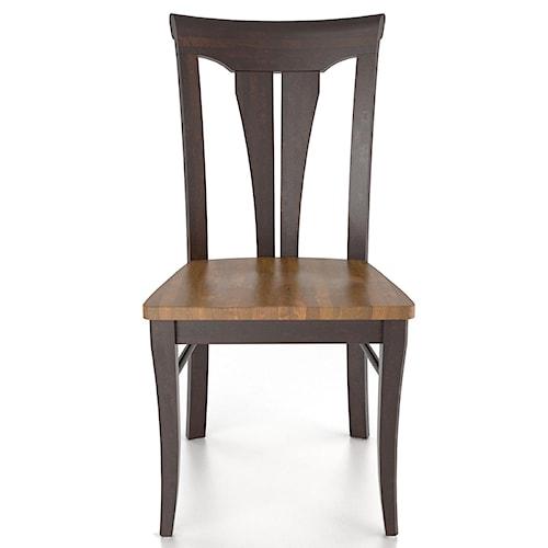 Canadel Custom Dining Customizable Sheaf Back Side Chair - Wood Seat