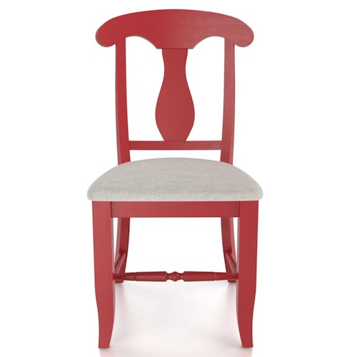 Canadel Custom Dining Customizable Splat Back Upholstered Side Chair