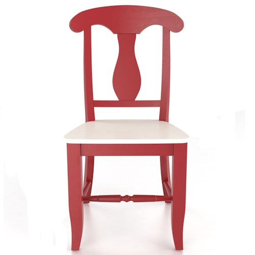 Canadel Custom Dining Customizable Splat Back Side Chair - Wood Seat