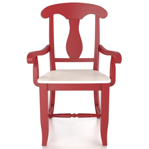 Canadel Custom Dining Customizable Splat Back Armchair - Wood Seat