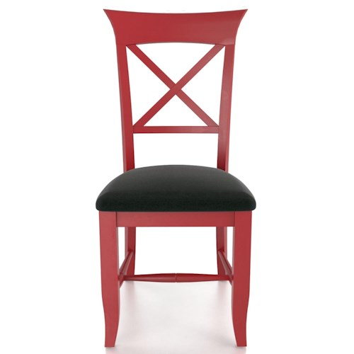 Canadel Custom Dining Customizable X Back Upholstered Side Chair
