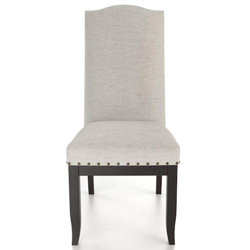 Canadel Custom Dining Customizable Upholstered Side Chair with Nailhead Trim
