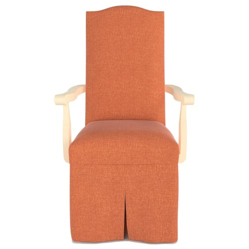 Canadel Custom Dining Customizable Upholstered Arm Chair with Skirt