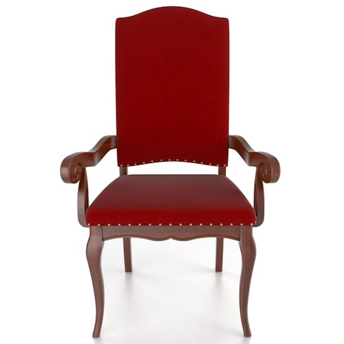 Canadel Custom Dining Traditional Customizable Upholstered Arm Chair
