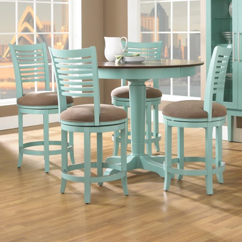 Canadel Custom Dining - High Dining Customizable Round Counter Height Table Set