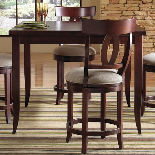 Canadel Custom Dining - High Dining Customizable Square Counter Height Table