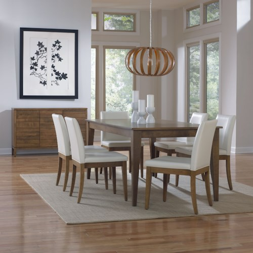 Canadel Custom Dining Dining Room Group with 6 Upholstered Chairs