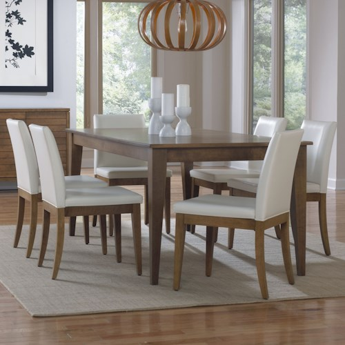 Canadel Custom Dining Customizable Rectangular Dining Table Set