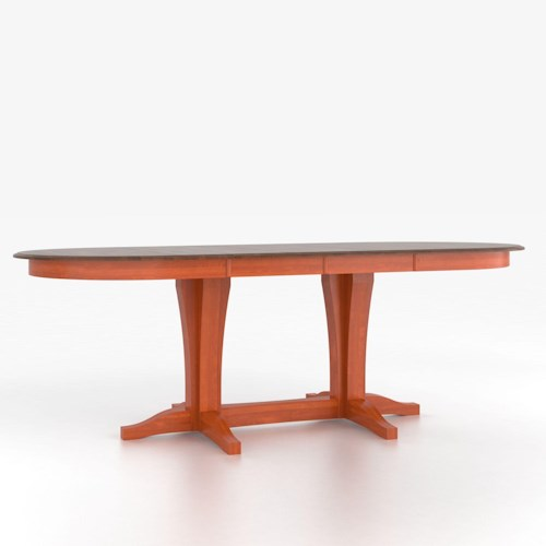 Canadel Custom Dining Counter Height Tables Customizable Oval Counter Height Table with Pedestal