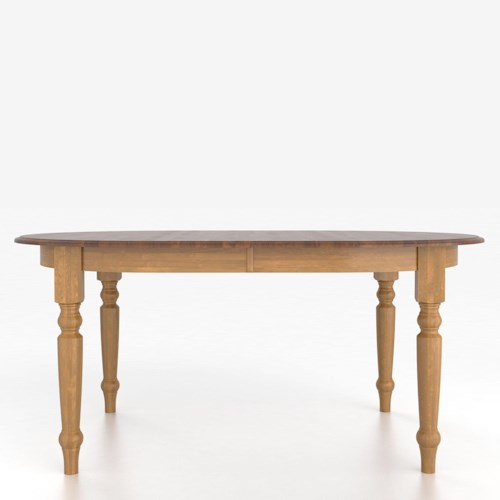 Canadel Custom Dining Tables Customizable Oval Table with Legs