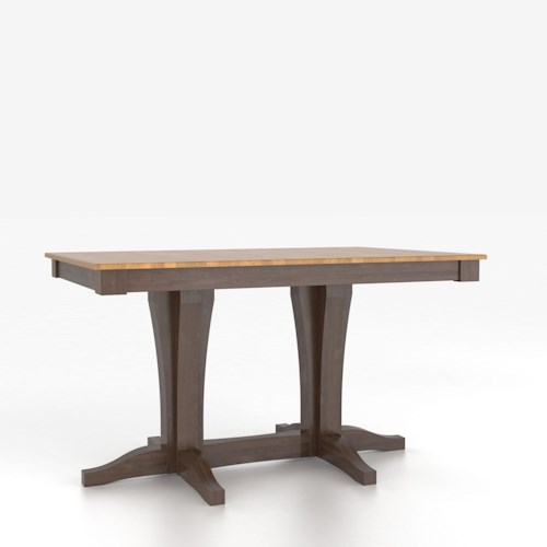 Canadel Custom Dining Tables Customizable Rectangular Counter Height Table with Pedestal