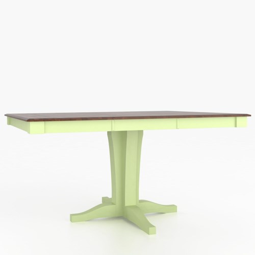 Canadel Custom Dining Counter Height Tables Customizable Square Counter Height Table with Pedestal
