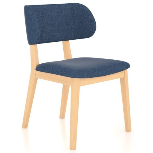 Canadel Downtown - Custom Dining Contemporary Customizable Side Chair with Curved Back Rest