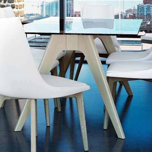 Canadel Downtown - Custom Dining Contemporary Customizable Glass Top Dining Table