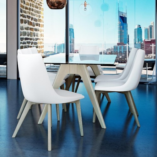 Canadel Downtown - Custom Dining Contemporary Customizable Glass Top Dining Table Set