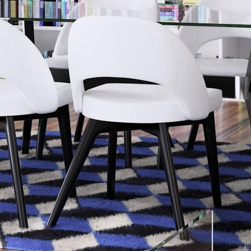 Canadel Downtown - Custom Dining Contemporary Customizable Side Chair with Cut Out Back Detail