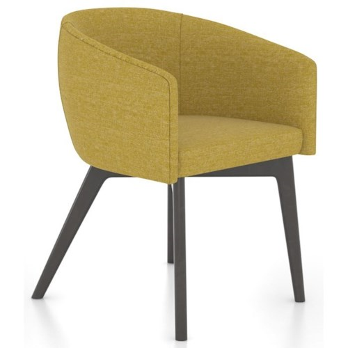 Canadel Downtown - Custom Dining Contemporary Customizable Dining Chair with Arms