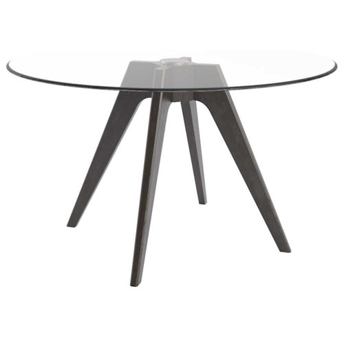 Canadel Downtown - Custom Dining Contemporary Customizable Round Glass Top Table