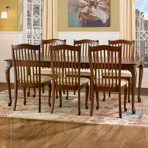 Canadel Gourmet - Custom Dining Customizable Rectangular Leg Table Set with Leaf