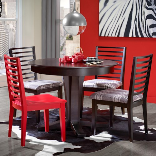 Canadel Gourmet - Custom Dining Customizable Round Table Set