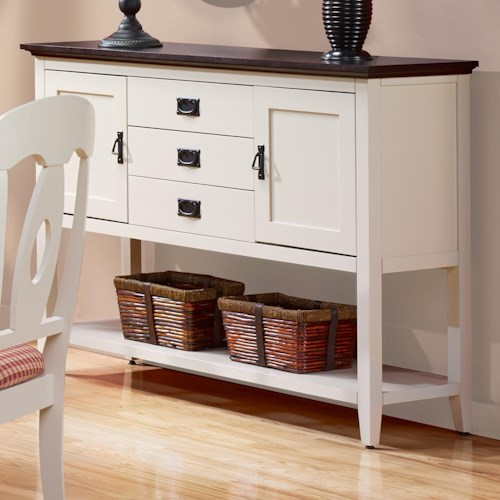 Canadel Gourmet - Custom Dining Customizable Sideboard with Shelf