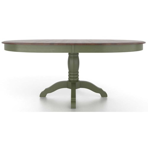Canadel Gourmet Customizable Oval Table with Pedestal