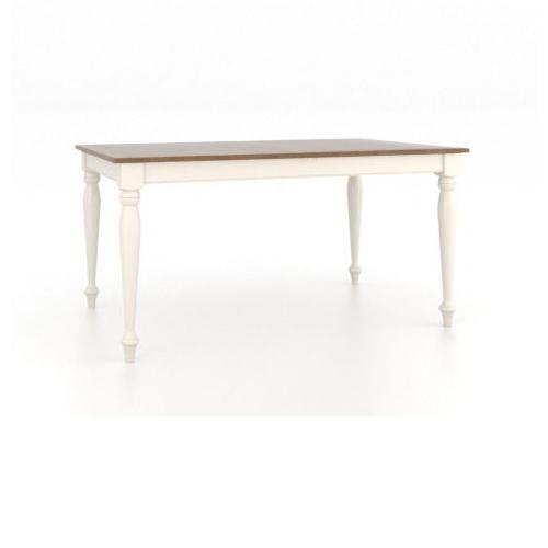 Canadel Gourmet Customizable Rectangular Table with Legs