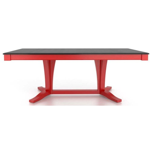 Canadel Gourmet Customizable Rectangular Table with Pedestal