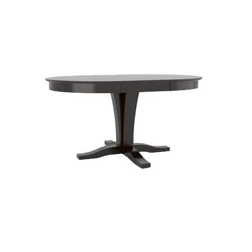 Canadel Gourmet Customizable Round/Oval Table with Leaf & Pedestal