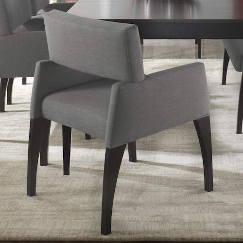 Canadel High Style - Custom Dining Modern Customizable Upholstered Dining Arm Chair