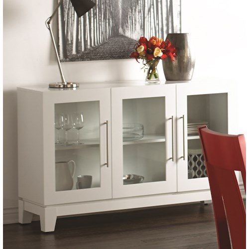 Canadel Custom Dining Customizable Buffet with Glass Doors