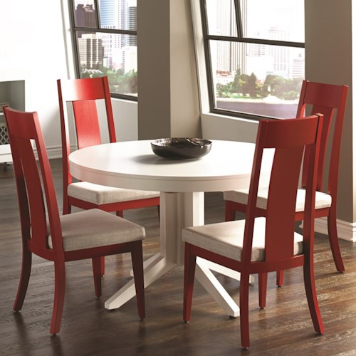Canadel High Style 12 Customizable Round Table with Pedestal Set