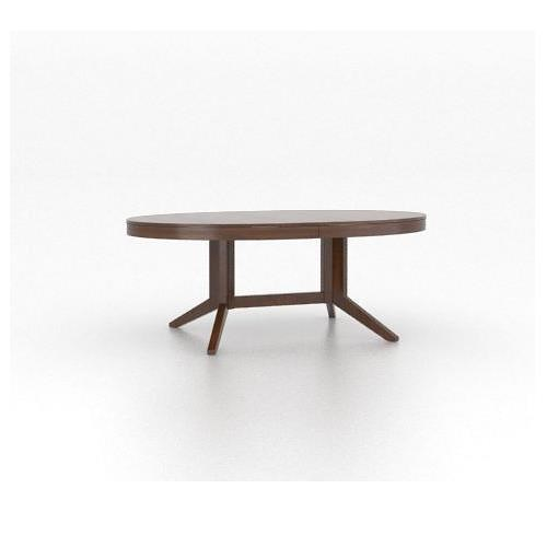 Canadel High Style - Custom Dining Customizable Oval Table with Pedestal
