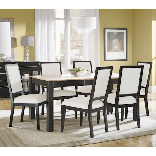 Canadel High Style - Custom Dining Customizable Rectangular Table with Leaf Set