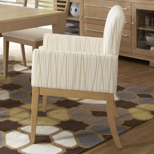 Canadel High Style - Custom Dining Contemporary Upholstered Dining Arm Chair