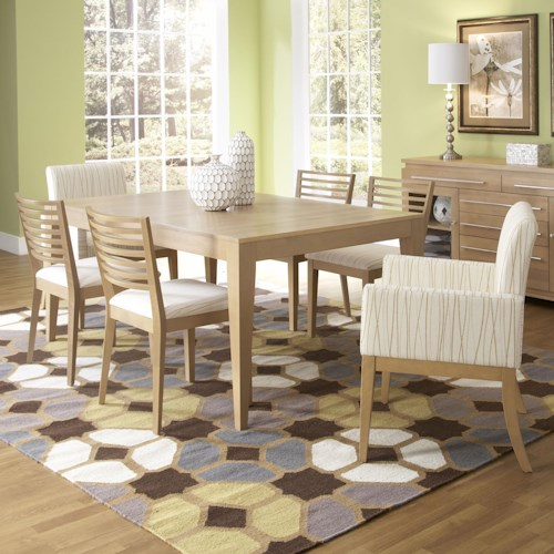 Canadel High Style - Custom Dining Customizable Rectangular Table Set