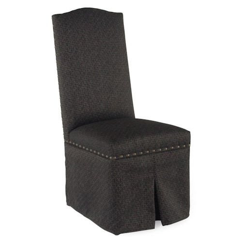 Canadel Loft - Custom Dining Customizable Upholstered Side Chair with Skirt and Nailhead Trim