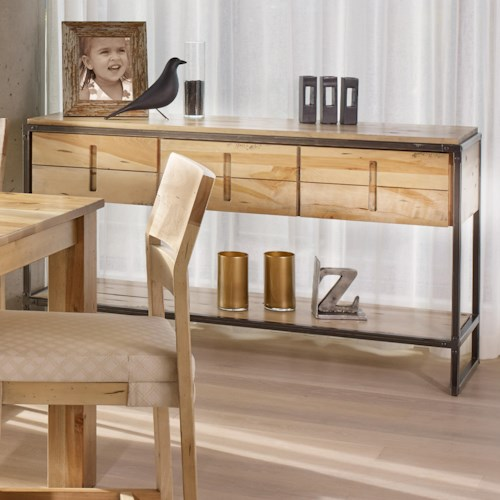 Canadel Loft - Custom Dining Customizable Buffet with Metal Legs