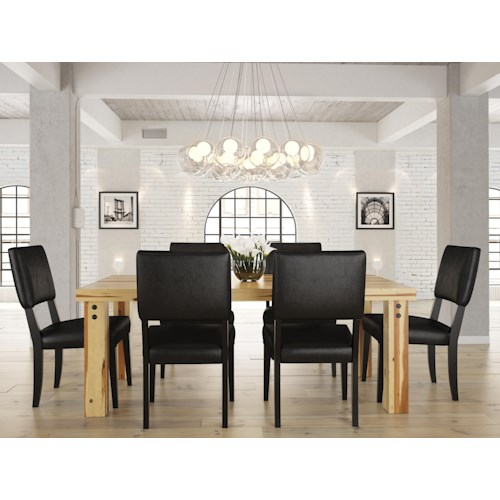 Canadel Loft - Custom Dining Customizable Rectangular Set