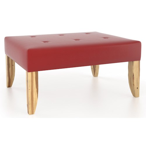 Canadel Loft - Living Customizable Rectangular Ottoman with Tufting