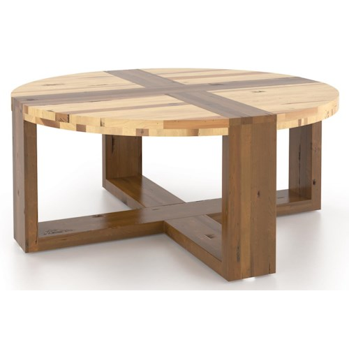Canadel Loft - Living Customizable Round Coffee Table