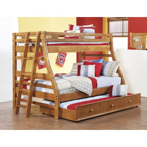 Morris Home Furnishings Cisco Twin/Full Bunk Bed *Trundle and Ladder Sold Separately