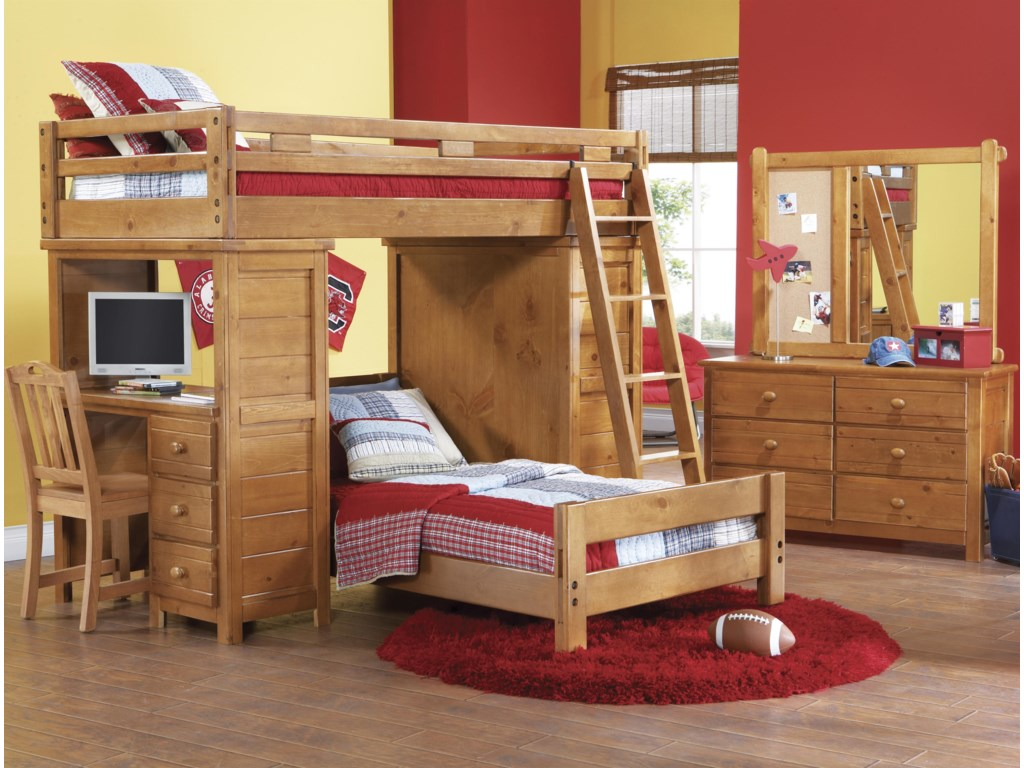 Shown in Room Setting with Dresser, Lift Bed, Desk, Chest and Ladder